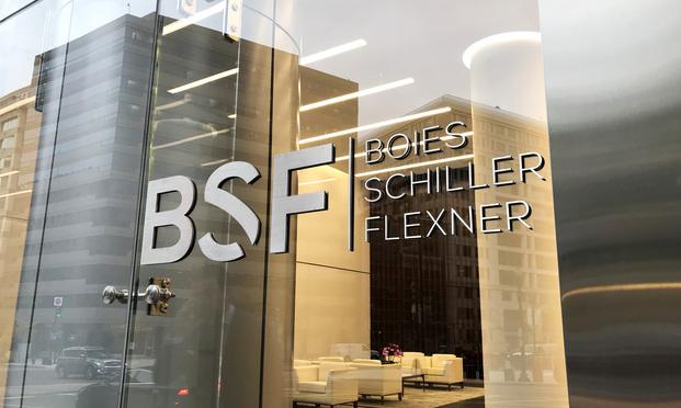 Boies Schiller Flexner offices in Washington, D.C. (Photo: Diego M. Radzinschi/ALM)