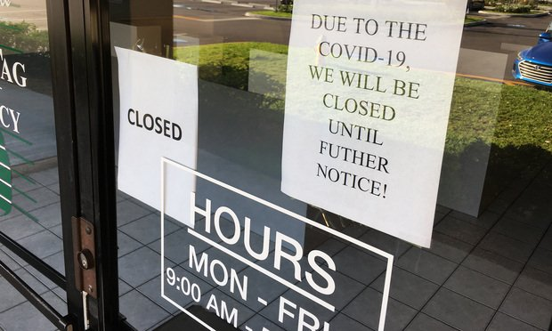 3/27/20- Pembroke Pines, Fl.- Pembroke Pines Tag Agency is closed due to the COVID-19 outbreak,