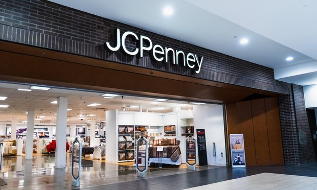 JCPenney department store located in a mall in South San Francisco bay.