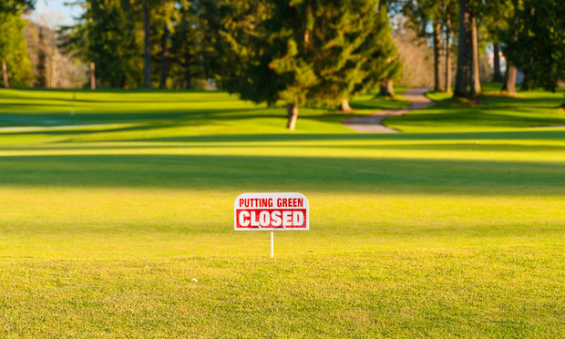A closed golf course