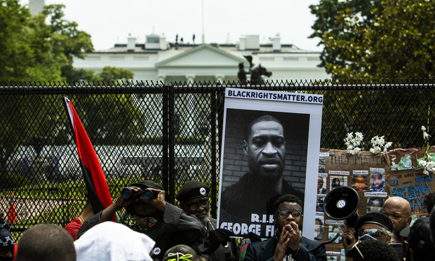 Thousands march in Washington, D.C. protesting police brutality and the killing of George Floyd in Minnesota at the hands of local police, on Saturday, June 6, 2020. (Photo: Diego M. Radzinschi/ALM)