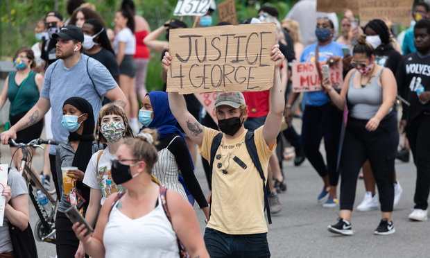 Protest sparked by the death of George Floyd in Minneapolis, Minnesota, on May 26, 2020. (Credit: Justin Berken/Shutterstock.com)