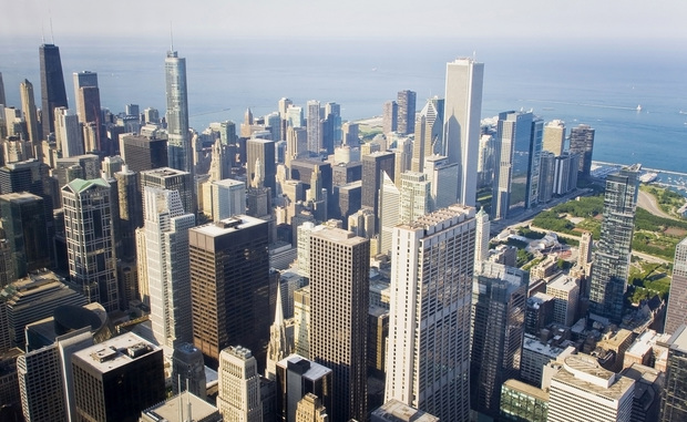 Chicago from above (Shutterstock)