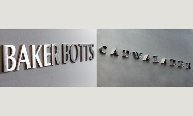 Baker Botts and Cadwalader Signs