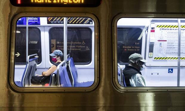 Riders on the Washington, D.C. metro. Photo: Diego M. Radzinschi/ALM