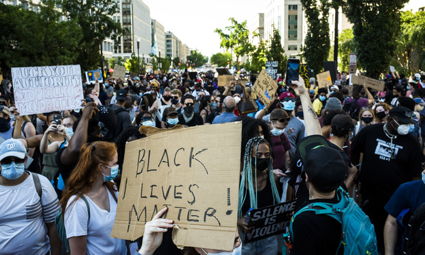 Thousands march in Washington, D.C. protesting police brutality.