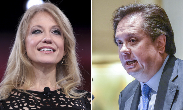 Kellyanne and George Conway.