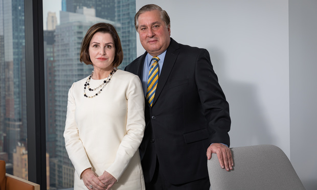 Natasha Harrison and Nick Gravante of Boies Schiller Flexner. Photo by Carmen Natale/ALM