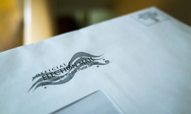 Application for mail-in ballot for the 2020 General Election.