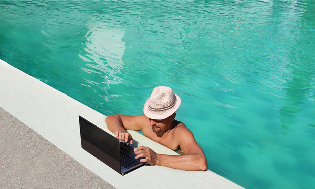 Working from a pool