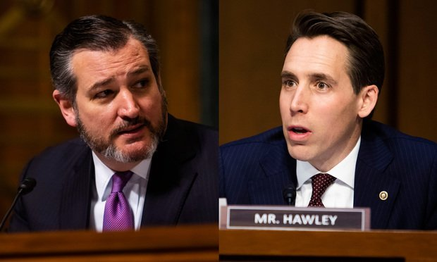 Senators Ted Cruz and Josh Hawley
