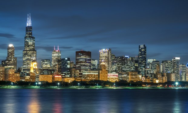 Chicago skyline by night, USA. Credit: Frederic Prochasson/stock.adobe.com<