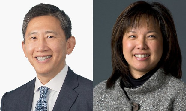 Wilson Chu of McDermott Will & Emery and Debra Wong Yang partner with Gibson, Dunn & Crutcher. Courtesy Photos