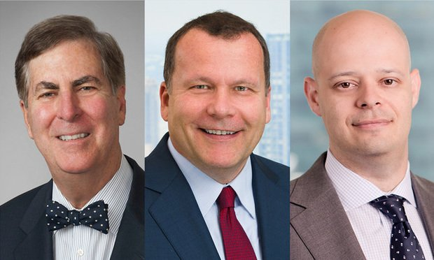 Stuart Gerson of Epstein Becker, Richard Mancino of Willkie Farr, and Anton Metlitsky of O'Melveny.