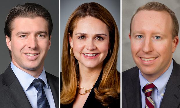 Sidley Austin partners Frank Favia, Angela Zambrano and Rob Velevis