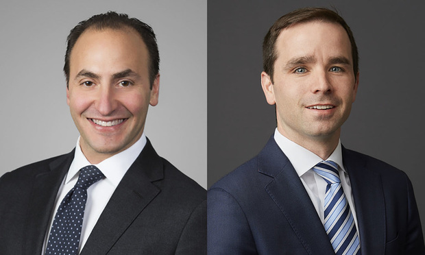 Andrew Kossof, left, and Timothy Knapp, right, with Kirkland & Ellis.