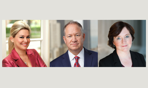L-R: Erin K. Copeland partner with Fibich Leebron Copeland & Briggs, Edward A. Wallace partner with Wexler Wallace, and Fidelma L. Fitzpatrick of Motley Rice.