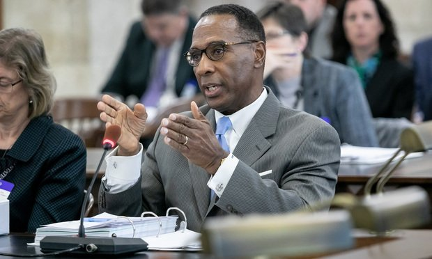 Glenn A. Grant, J.A.D., Acting Administrative Director of the New Jersey Courts testifies before the NJ Senate Budget Committee.