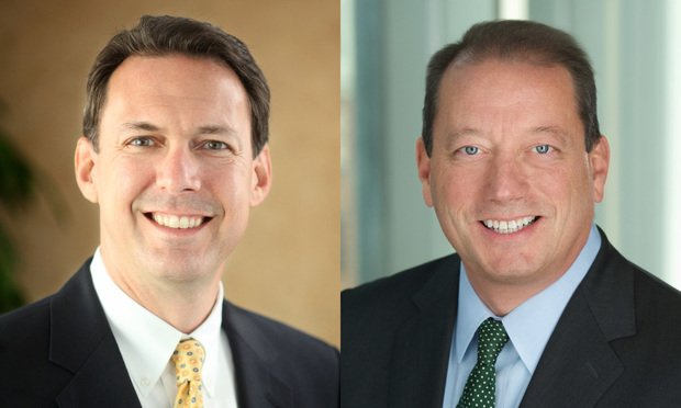 Kenneth L. Chernof, left, and James D. Herschlein, right, partners with Arnold & Porter Kaye Scholer. Courtesy Photos