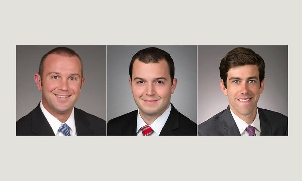 L-R Judson Brown, Thomas Weir and Paul Weeks, Kirkland & Ellis. Courtesy Photos