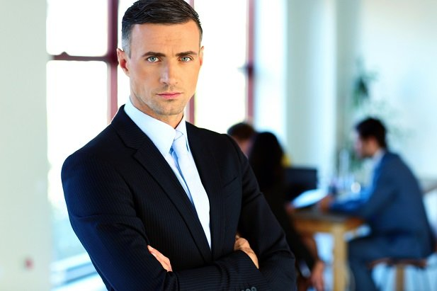 middle aged man in business suit