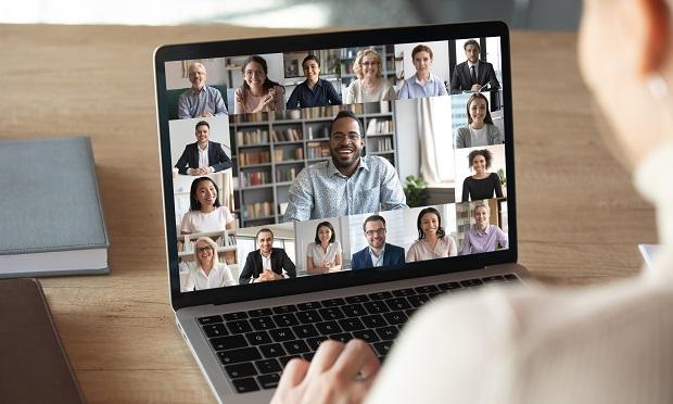 Zoom meeting on laptop