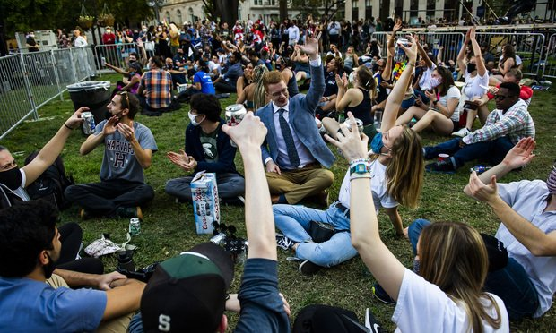 People across the country celebrate the election of Joe ...