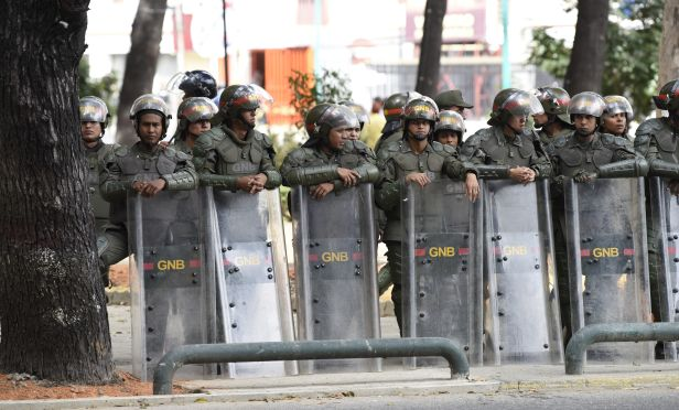 Members of the Bolivarian National Guard
