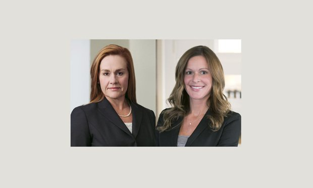 Tess Blair, left, and Tara Lawler, right, of Morgan Lewis & Bockius.