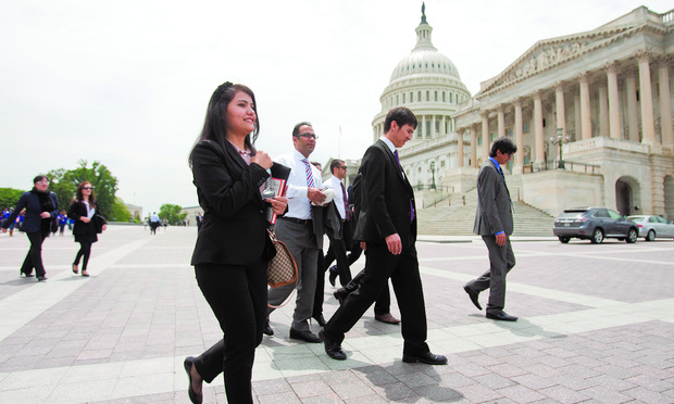 SCHOLARS: Participants closed their year at U.S. law schools by gathering in Washington.