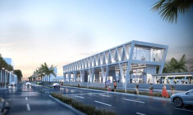Rendering of All Aboard Florida's West Palm station