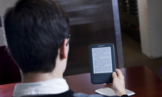 Amazon Kindle eBook reader.