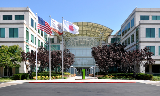 Apple headquarters at 1 Infinite Loop in Cupertino