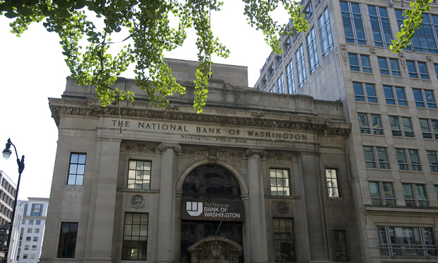 Building that used to house the National Bank of Washington on the corner of G & 14 streets, N.W.
