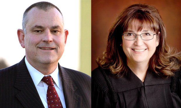 Attorney John-Paul Brennan and Judge Janene Beronio Yolo County Superior Court