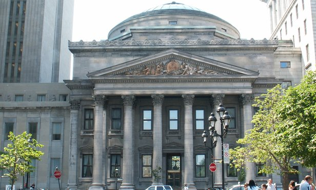 Bank of Montreal at at Place d'Armes in Montreal, Canada