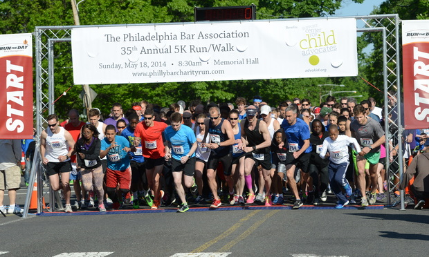 Runners take off at the Philadelphia Bar Association 35th annual 5K Charity Run on May 18 at Memorial Hall in Fairmount Park