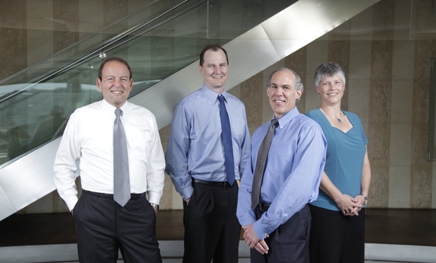 From left Richard Climan, John Brockland, Keith Flaum, and Jane Ross