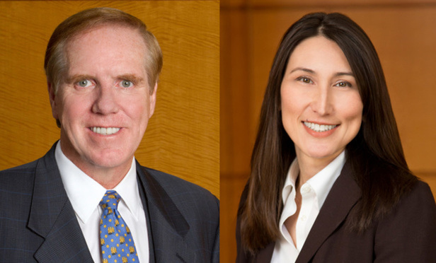 Left to right: Randy Evans and Shari Klevens, Dentons partners.