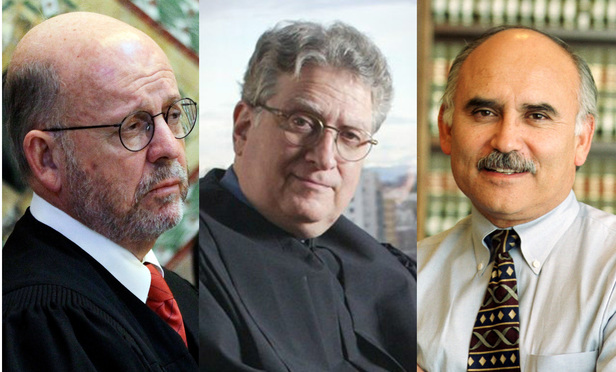 (l-r) Michael Daly Hawkins, Ronald Gould, and Richard Paez.