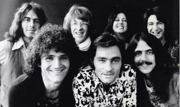 Jefferson Starship, from left in rear, Pete Sears, Paul Kantner, Grace Slick and John Barbata; front from left, David Freiberg, Marty Balin and Craig Chaquico.