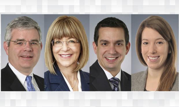 (l-r) Charles Knapp, Bonita Moore, Dan Prokott, and Susan Elgin.