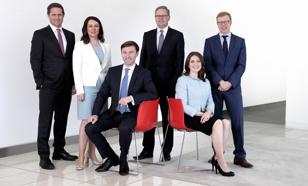 Left to right: Mark O'Sullivan, West Coast Head Partner; Anne-Marie Bohan, Head of Technology and Innovation; Chris Bollard, Partner, Technology and Innovation; Michael Jackson, Managing Partner; Emma Doherty, Partner, International Business Group; Robert O'Shea, Head of the Corporate and Commercial Department