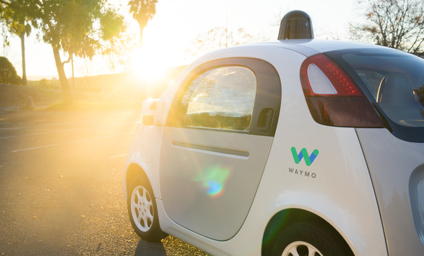 Waymo driverless vehicle.