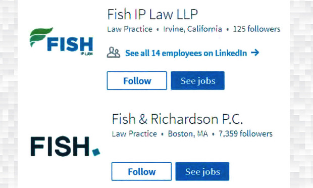 Fish fight fish ip law sues fish richardson in for Fish law firm