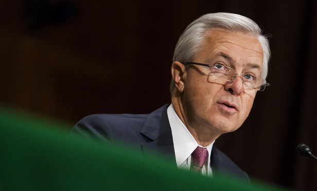 Wells Fargo CEO John Stumpf testifies before the Senate Banking Committee, addressing the scandal relating to the bank's opening of fake bank accounts without customer knowledge, on Tuesday, September 20, 2016.