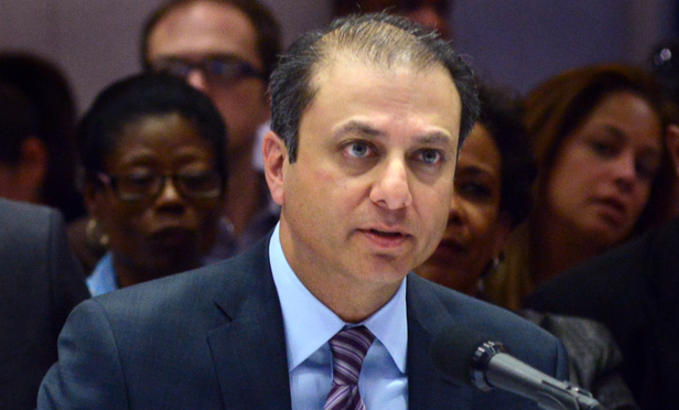 Southern District U.S. Attorney Preet Bharara testifies before the Moreland Commission at a hearing on Sept. 17, 2013 at Pace University.
