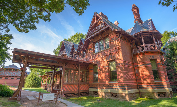 Charming The Mark Twain House And Museum In Hartford, Connecticut. It Was The Home Of