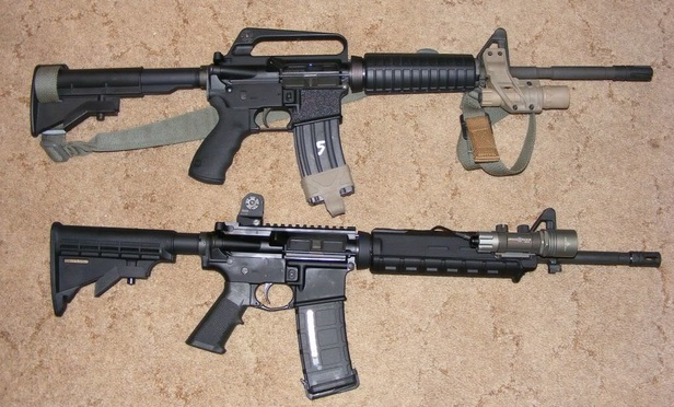 AR-15 rifles manufactured by Bushmaster Firearms