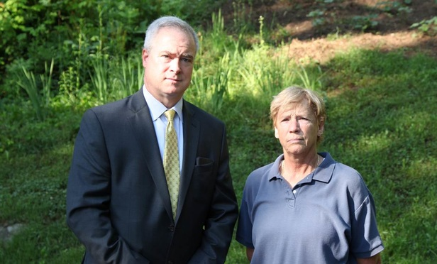 Attorney Ray Hassett (left) said he collected a six-figure settlement on behalf of Barbara McLoughlin (right), who lost nearly all her belongings after she was evicted from her home.